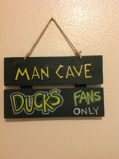 Oregon Ducks Man Cave Sign by UNameitCA on Etsy