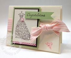 wedding card Stampin up! Love and Laughter Wedding Anniversary Cards, Wedding Cards, Wedding Invitations, Diy Wedding, Wedding Stuff, Wedding Dress, Card Making Inspiration, Making Ideas, Stampin Pretty