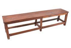 Teak  School  Bench on OneKingsLane.com