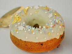 Donas horneadas de Vainilla con Chip de Chocolate Eclairs, Churros, Doughnuts, Cheesecake, Cupcakes, Cookies, Desserts, Food, Vegans
