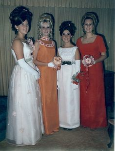 1964...my dress was third from left...Jackie Kennedy style...three button gloves. Mine was pink with dyed to match heels.