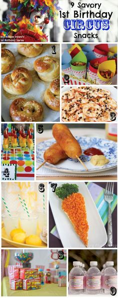 Clown snacks2 The Cirque du Soleil Guide to a Stunning First Birthday Circus Party