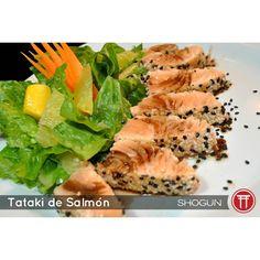 """Qué es el  #TATAKI? たたき  El Tataki Japonés: """"apilado"""" o """"distribuido en piezas"""" denominado también tosa-mi  es una forma de preparar el #pescado (o la #carne) en la cocina japonesa.  Prueba el exquisito tataki de Shogun #Sushi!  #Salmón -$105- #Atún -$149- by shogun_sushi"""