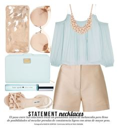 """""""STATEMENT NECKLACES"""" by noraaaaaaaaa ❤ liked on Polyvore featuring 3.1 Phillip Lim, Linda Farrow, Elizabeth and James, Miu Miu, Dolce&Gabbana, Kate Spade and Charter Club"""