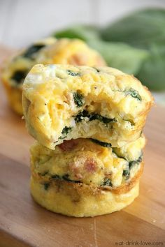 Low-Carb Egg Muffins. These are a great candidate for a DF makeover (and skip the bacon, too)!