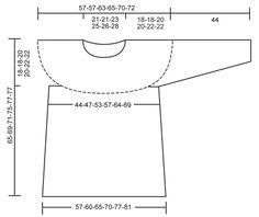 """Von oben nach unten gehäkelter DROPS Pullover in """"Cotton Light"""" mit Lochmuster und Rundpasse. Größe S - XXXL. ~ DROPS Design"""