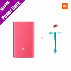 Original Xiaomi mi Power Bank 5000mAh (Red) 5000 Slim External Battery Pack Portable Charger Mobile Power bank