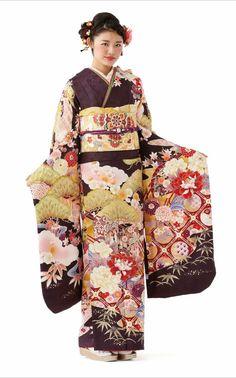 振袖 Japanese Costume, Japanese Kimono, Kimono Dress, Kimono Top, Japanese Outfits, Folk Costume, Costumes For Women, Traditional Dresses, Portrait Photography