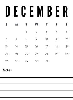 Free December 2020 notes calendar download to write notes and other important reminders so that you can complete any task on time. #december #calendar2020 #printable #notes #december2020 Write Notes, Notes Free, Quote Template, Calendar Wallpaper, Calendar 2020, Child Development, Trip Planning, December, Printable