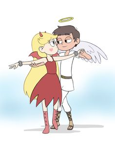 "areablog: ""Quickie for participating in today's theme of the Starco week, ""Angel and Demon""… I don't even know what I'm doing since is the first time doing it. Is there something I'm missing…? Hope I can participate each day… Not promising anything..."