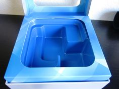 Blue vac form insert tray with paperboard border #packaging.