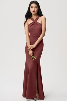 bb9060d0b035 Color: Mayan Blue @ jenny yoo. See more. Bridesmaids option 4/4: Kayleigh,  front Rose Bridesmaid Dresses, Cinnamon, One