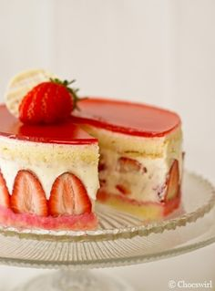 I had a fraisier for the first time today, and it was one of the most delicious things ever. Hopefully I can recreate it when I get home :].