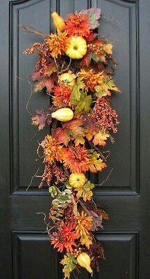 Fall Door Swag For Front Door.