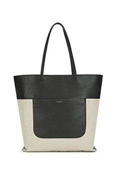 Lileth Tote in Black and Linen