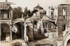 Milano perduta: il prezioso chiostro bramantesco presso l'Orfanotrofio Maschile, sede dei Martinitt, distrutto dai bombardamenti del 1943.