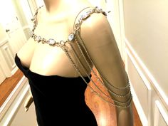 A personal favorite from my Etsy shop https://www.etsy.com/listing/521156585/silver-color-shoulder-chains-crystal