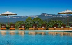 Emirates One&Only Wolgan Valley. The Emirates One&Only Wolgan Valley is a Jurassic Park of sun-soaked escarpments, elegant living and sumptuous decor set in the Blue Mountains. Luxury Spa, Luxury Travel, Hotels And Resorts, Best Hotels, Australia Holidays, Pool Picture, Hotel Pool, Mountain Resort, Luxury Holidays