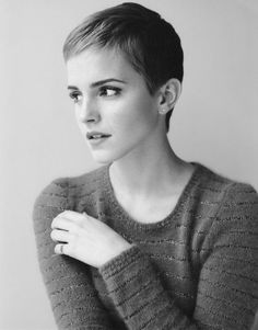 Emma. I don't think many girls can pull off the pixie cut but she does it flawlessly.
