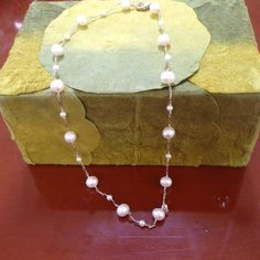 Pearl necklace Sterling silver Pearl necklace. Jewelry Necklaces