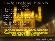 Biggest House in the World, Istana Nurul Iman, facts