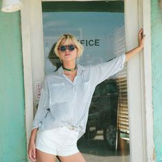 A striped shirt definitely makes a winning choice Minkpink, Online Fashion Boutique, Beachwear, Swimwear, Style Summer, Bubbles, Spring, How To Make, Shirts