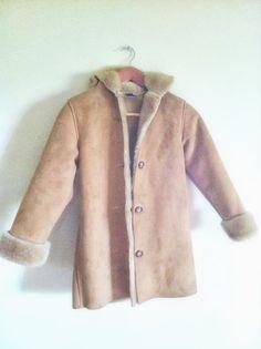 girl's coat. CLEARANCE SALE 28 was 80dollars Vintage GAP KiDS ultra suede sherpa like coat size 7/8