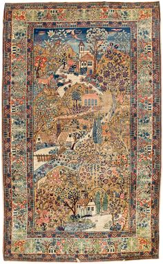 Persian Tabriz rug Central Iran, ca: 1720 Persian Carpet, Persian Rug, Outdoor Carpet Roll, Iranian Rugs, Tabriz Rug, Rustic Rugs, Braided Rugs, Patterned Carpet, Floor Rugs