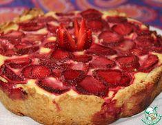 Рецепт: Творожный пирог с клубникой