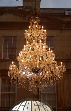 bath pump room chandelier, via Flickr.