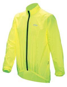 BBB Baseshield - Chubasquero de ciclismo para hombre, color amarillo neón, talla L