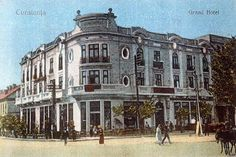 Constanta - Grand Hotel - interbelica Constanta Romania, Old Postcards, Grand Hotel, Continents, Old Town, Memories, Mansions, House Styles, Places