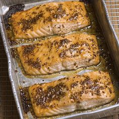 Recipe of the Day!> Slow-Baked Salmon w/ Honey Mustard Glaze> Salmon is just as delicious when it's cooked slowly!