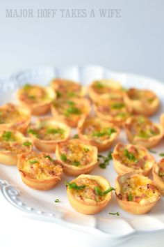 Entertaining made easy. Mini ham puffs on a cake stand make an elegant display. Just in time for holiday entertaining! A crustless quiche recipe and a more formal adaptation with a gluten free crust. Enjoy serving these gluten free mini ham bites or crustless quiche on Christmas morning.