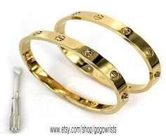 Cartier Inspired Love Bracelet with Screwdriver / by gogowrists, $20.99