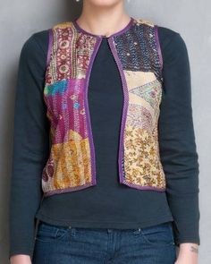 Purple Kantha Embroidered Jacket I Shop at:http://www.thesecretlabel.com/simply-kitsch