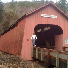Oregon has great bridges. Here's a great covered bridge en route to Lincoln City!