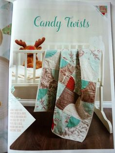 Candy Twists baby quilt in Quilt Now issue 4