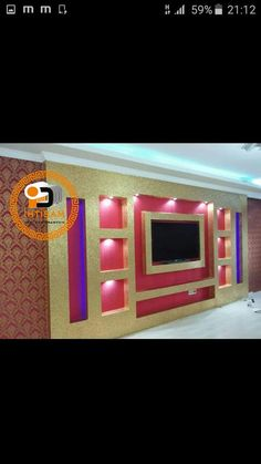 Lcd Wall Design, Pvc Ceiling Design, Pop Design, Ceiling Decor, Living Room Wall Designs, Feature Wall Living Room, Living Rooms, Modern Tv Room, Modern Tv Wall Units