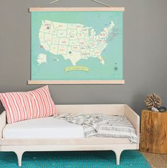 USA Map My Travels Personalized USA Map Wall by ChildrenInspire