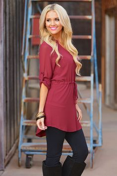 Take it or Leave it Tunic - Wine