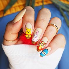 Disney Acrylic Nails, Summer Acrylic Nails, Best Acrylic Nails, Easy Disney Nails, Disney Inspired Nails, Edgy Nails, Grunge Nails, Trendy Nails, Pointy Nails