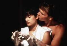 Demi Moore with a Sahag hairstyle in Ghost.