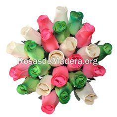 Ramo de la #Esperanza en www.rosasdemadera.org Arte Floral, Wooden Flowers, Cheap Gifts, Rose Bouquet, Floral Bouquets, Original Gifts