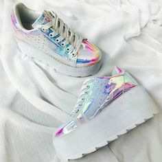 Y.R.U. Stylish Lace Up Platform Sneakers