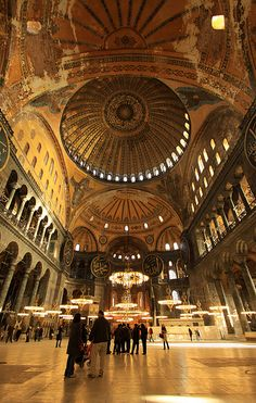 Hagia Sophia (Ayasofya) One building that marks the Istanbul, Turkey, skyline is the Hagia Sophia, one of the Seven Wonders of the Ancient World.