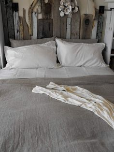 Headboard made out of driftwood. perfect for the  Mainestay