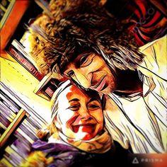 Genette et Claude #xmasshopping #yeti #lepetitfiligranes #wife&bro