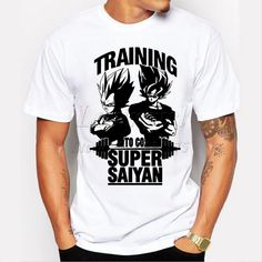 Training To Go Super Saiyan Design Men's T shirt Dragon Ball Goku Z Vegeta Printed Tees Anime Tops http://www.worldofgoku.com/training-to-go-super-saiyan-design-mens-t-shirt-dragon-ball-goku-z-vegeta-printed-tees-anime-tops/