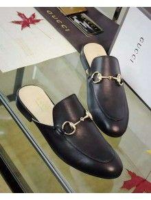 867989db6 Gucci Princetown Leather Slipper Black 2016